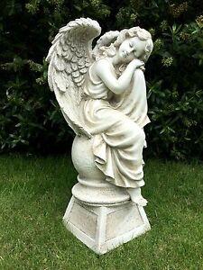 angel garden statue. image is loading large-sitting-angel-garden-ornament-sculpture-statue-grave- angel garden statue