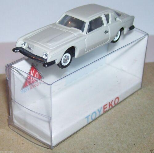 MICRO TOY EKO TOYEKO HO 1//86 1//87 MADE SPAIN STUDEBAKER AVANTI REF 2075 in BOX