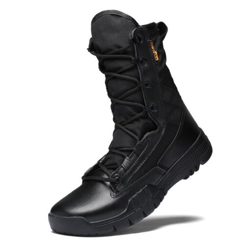 Men/'s Trekking Army Boots Tactical Combat Anti-collision Training High Top Shoes