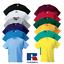 Russell-Enfants-T-Shirt-Classique-plaine-Top-100-Coton-Doux-Couleurs-Garcons-Filles miniature 1