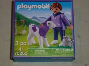 PLAYMOBIL-MILKA-2020-reference-70263-vache-cow-kuh-koe-vaca-white-purple