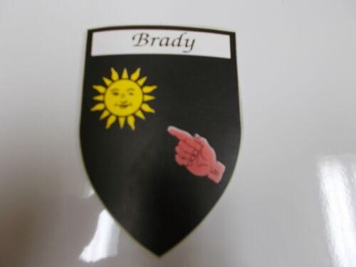 Brady Irish County Crest Ireland Decal Sticker Shield  Badge Ireland