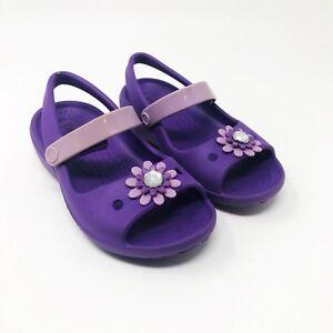 9cb3b338eb5e8 Toddler Girls Purple Keeley Mini Wedge Iris Purple Peep Toe Pedal ...