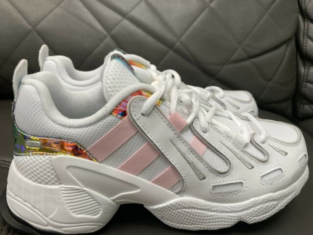 adidas Juniors EQT Gazelle J Athletic SNEAKERS White Pink Black EG7961 Size 5