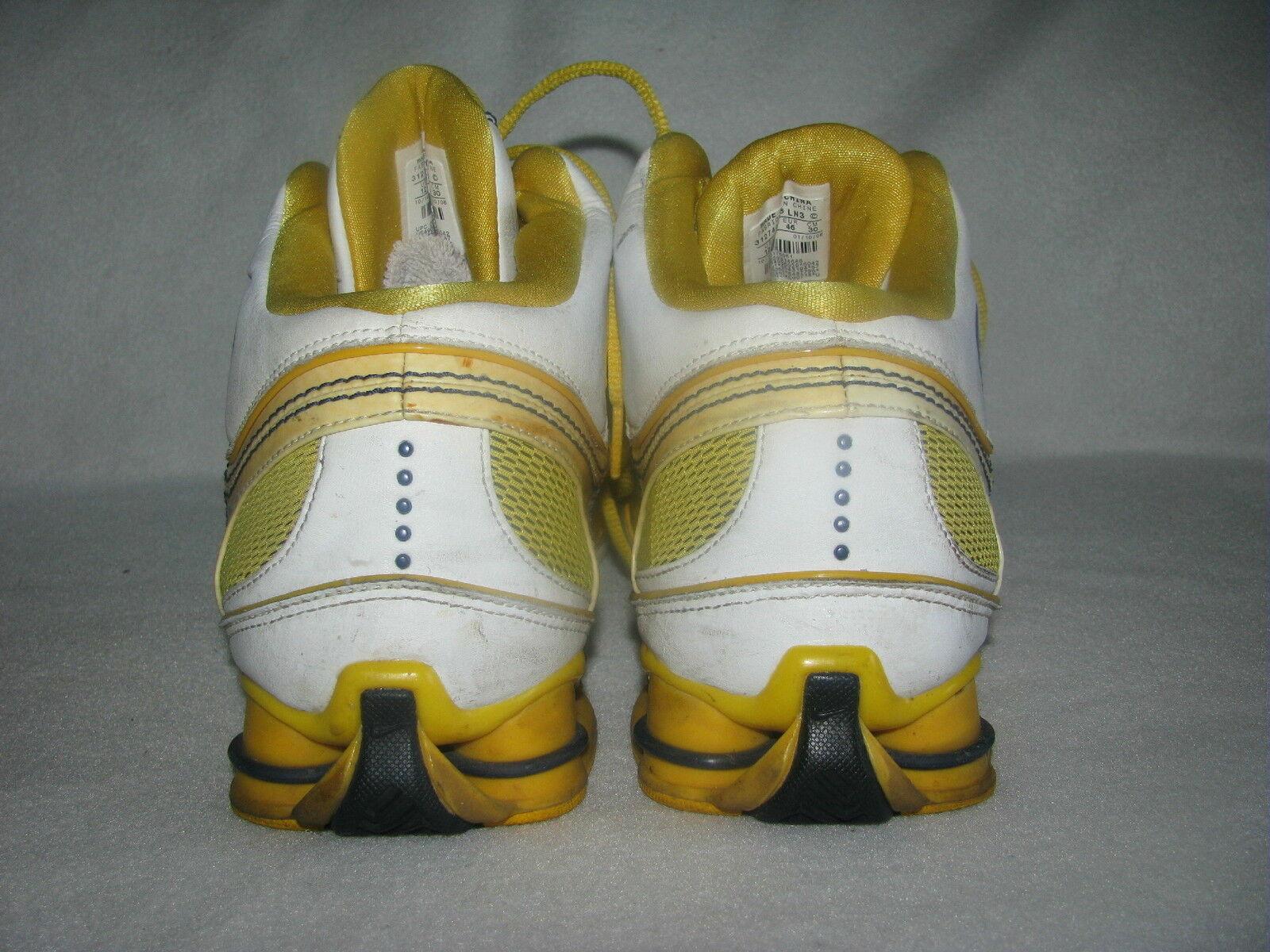 Nike air huarache huarache huarache shox männer sportschuhe sz 12 gelb / weiß 035765