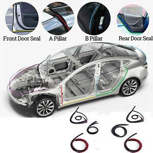 6x-Fuer-Tesla-MODEL-3-S-X-Autotuer-Schallschutzleiste-Windgeraeuschreduzierung