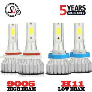 Combo-H11-9005-LED-Headlight-Bulbs-Kit-6000K-for-2007-2015-Chevy-SILVERADO-1500