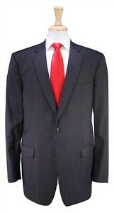 BROOKS-BROTHERS-1818-Madison-Gray-Pinstripe-ITALY-2-Btn-Luxury-Wool-Suit-44XL