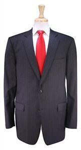 Brooks-Brothers-1818-Madison-Gris-Pinstripe-Italie-2-Btn-de-Luxe-Laine-Suit-44XL