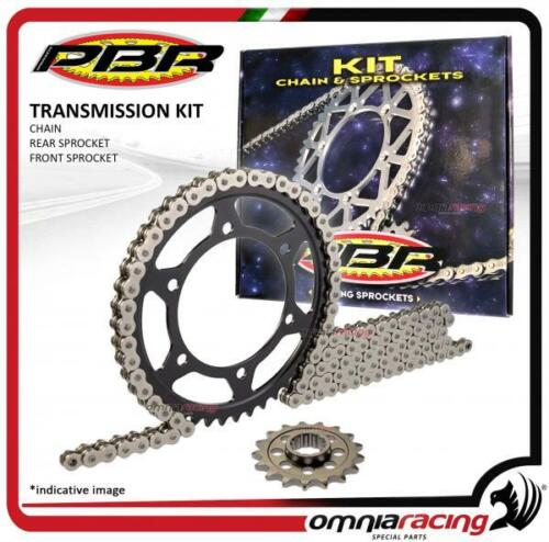 rear sprocket PBR EK Kawasaki KX125 1990/>1991 Trasmission kit chain and front
