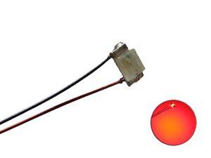 S1125 - 5 Stück SMD LED 0603 rot mit Draht Kupferlackdrah<wbr/>t Kabel mini LEDs