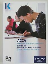 F5 Performance Management PM - Exam Kit by Kaplan Publishing