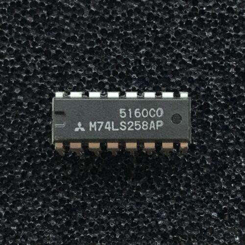 Mitsubishi PDIP-16 M74LS258AP Quad 2-to-1 Data Select//Multiplexer PKG of 10