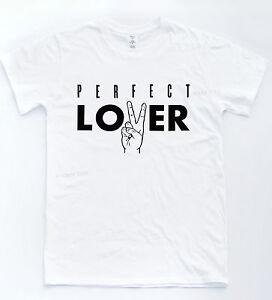 e814283b Perfect Lover Peace T-shirt Hand Heart Love Indie Tee Slogan Cool ...