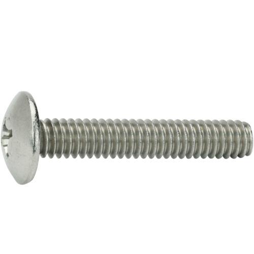 """1//4-20 x 3//8/"""" Phillips Truss Head Machine Screws Stainless Steel 18-8 Qty 50"""
