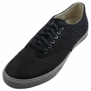 SeaVees-08-63-Hermosa-Plimsoll-Varsity-Mens-Tumbled-Leather-Wool-Sneakers-size-9