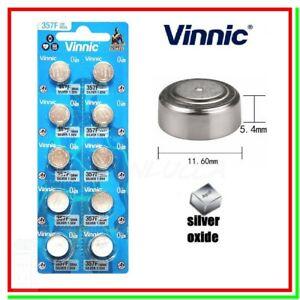 10 Batterie Pile VINNIC 357 303 SR44 V76PX SR1154 S76 SB-B9 10L14 228 J 280-62