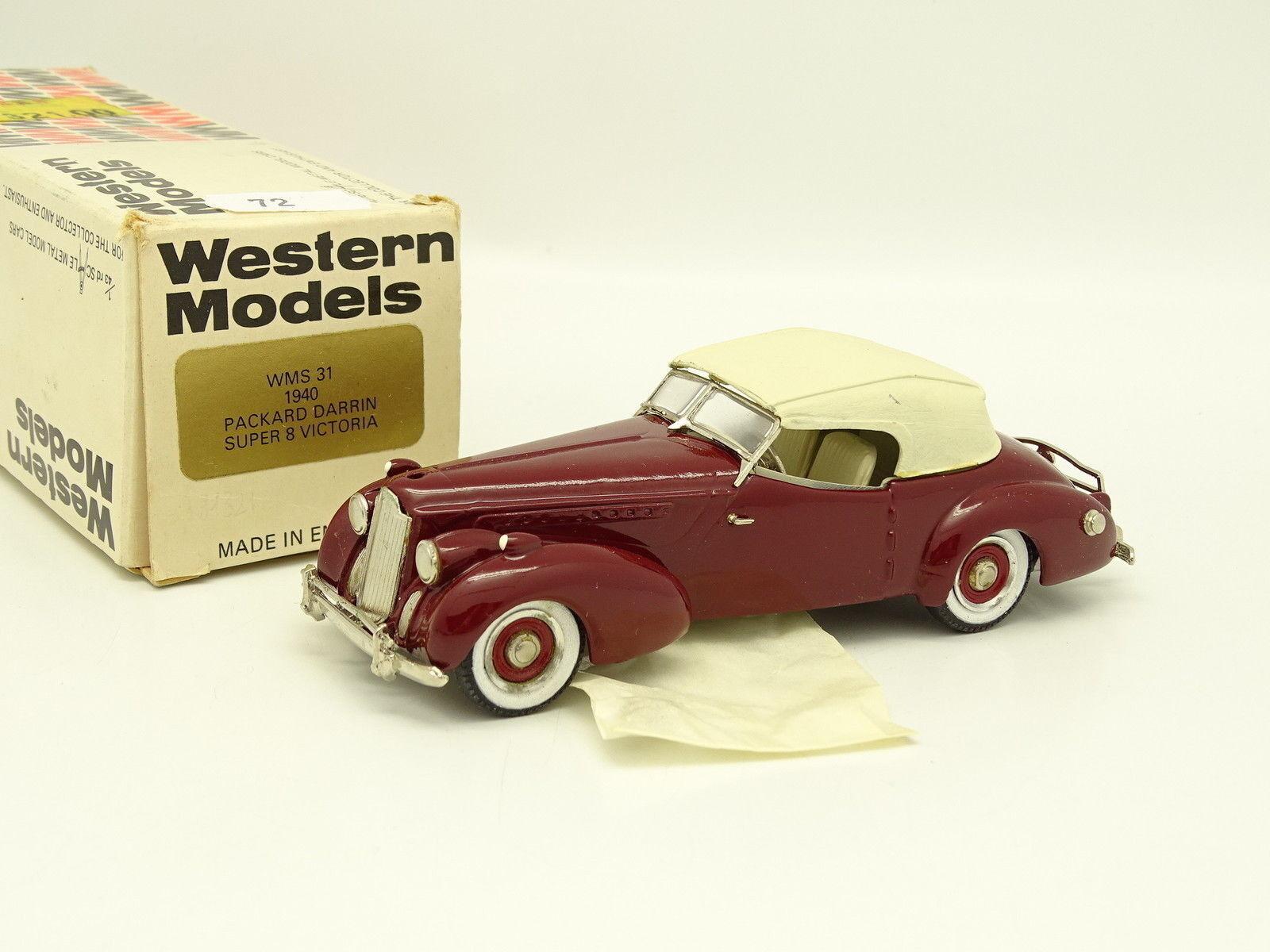 Oeste Modelos 1 43 - Packard Darrin súper 8 Victoria 1940 Rojo