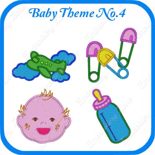 34 BABY INFANT THEMED EMBROIDERY DESIGNS ON USB NO.4  PES JEF HUS PCS XXX VP3