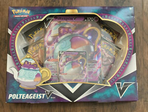 Pokemon TCG Polteageist V Box Collection Sword /& Shield Rebel Clash