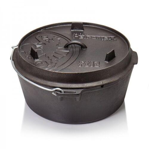 Petromax Guss Feuertopf Dutch Oven FT12-T 11,5 liter und Deckel 3,5 liter