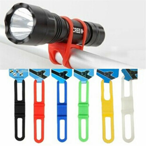 New Universal Bike Handle Bar Holder Mounting For Flashlight Torch Black E!