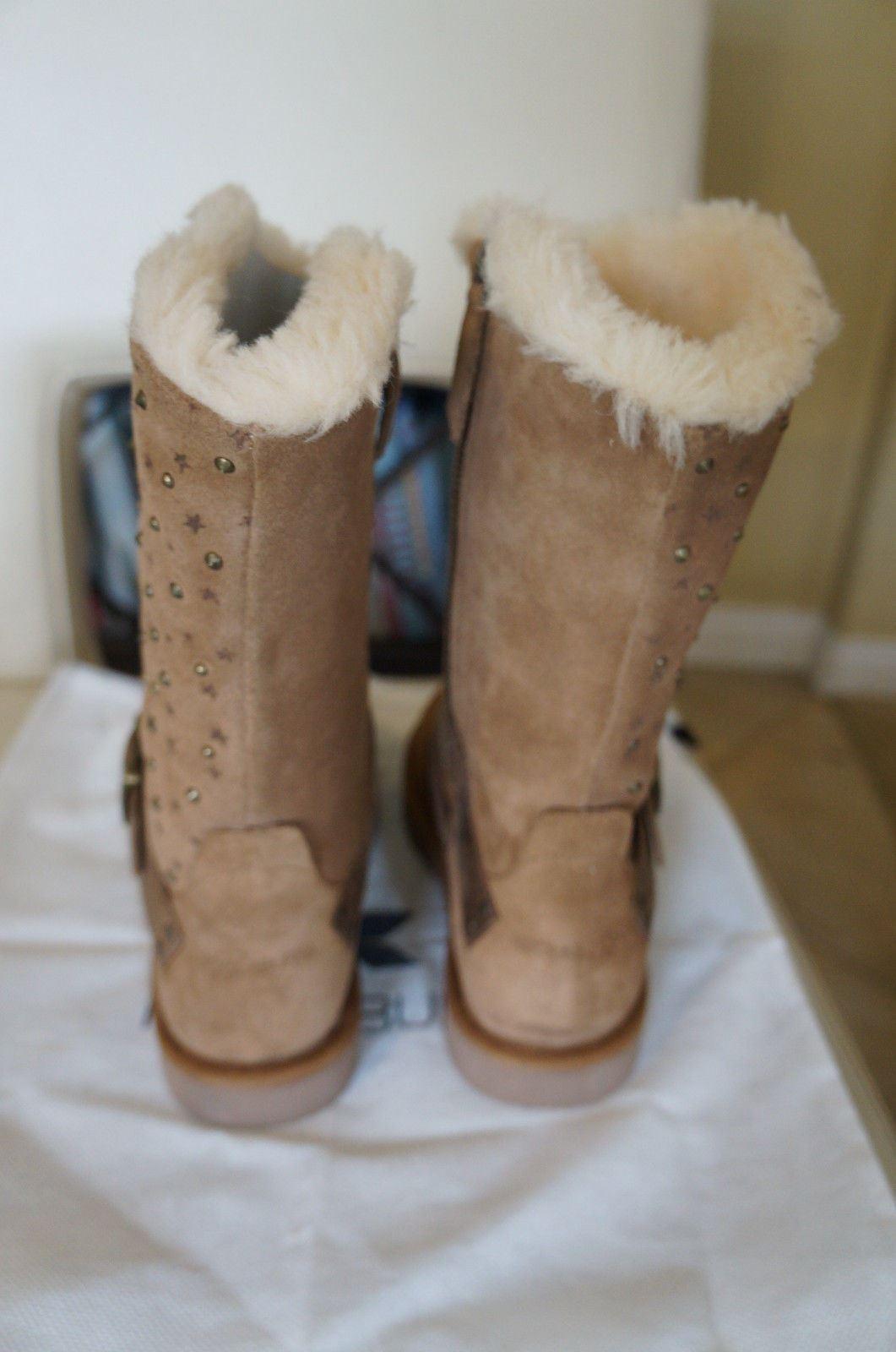 NEW KOOLABURRA Heidi Stardust Suede MidCalf Shearling  Stivali Chestnut SZ 7  Shearling 295 1fecf1