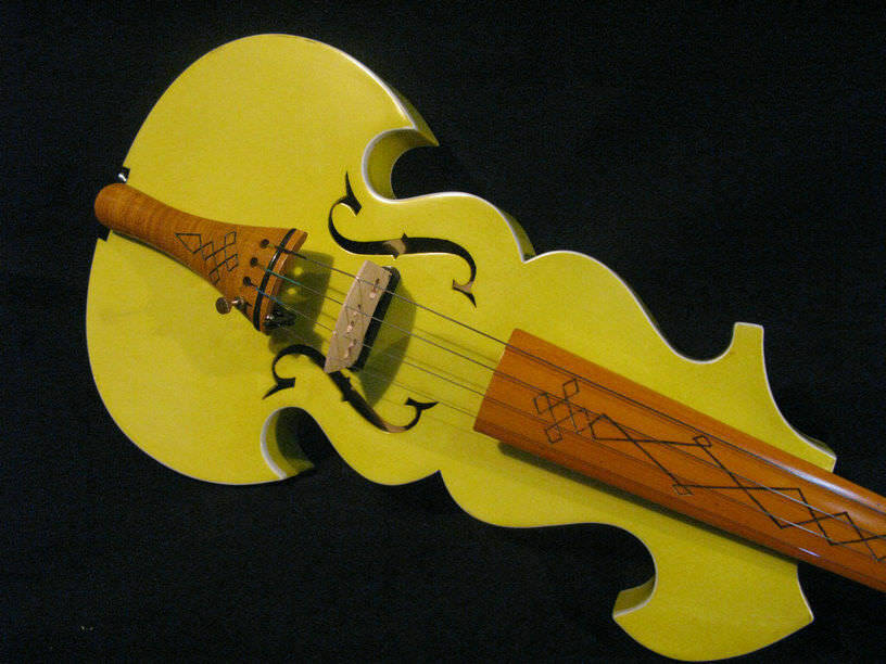 Best model Beautiful yellow color 4 4 electric violin +Acoustic violin