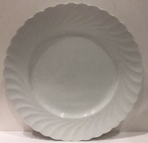 Image is loading Savoir-Vivre-French-Swirl-Set-of-4-White- : dinner plate in french - pezcame.com
