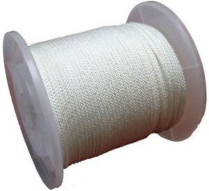 Polyesterseil-3mm-6mm-geflochten-Seil-dehnungsarm-Tau-Schnur-Rope-Leine