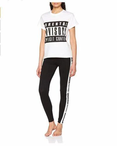 Ladies Womens Explicit Content Parental Advisory  Pyjama Sets Pjs Nightwear 6-20