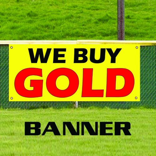 We Buy Gold Advertising Promotion Vinyl Banner Sign Pawn Shop Coins Jewelry Cash