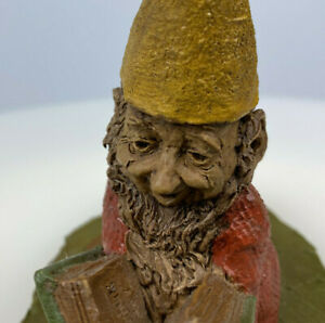 Vintage Large Tom Clark Gnome Curtis The Scholar Cairn Studios Statue Woodspirits Gnome Figurine Tom Clark Gnome Signed Collectible Gnome
