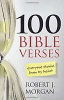 100 Bible Verses Everyone Should Know By Heart By Robert J. Morgan, (paperback), on Sale