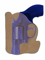 Barsony Tan Leather Pocket Holster Charter Arms, Colt 2 Snub Nose 38 357