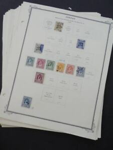 EDW1949SELL : JORDAN Very clean Mint & Used collection on album pages. Cat $806.