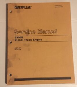 Caterpillar OEM 3306B 63z1-up,5kd1-up, Diesel Truck Engine Service Manual. Cat
