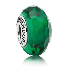 Pandora Murano Glass Charm Green Faceted Bead Silver S925 ALE 791619 New,
