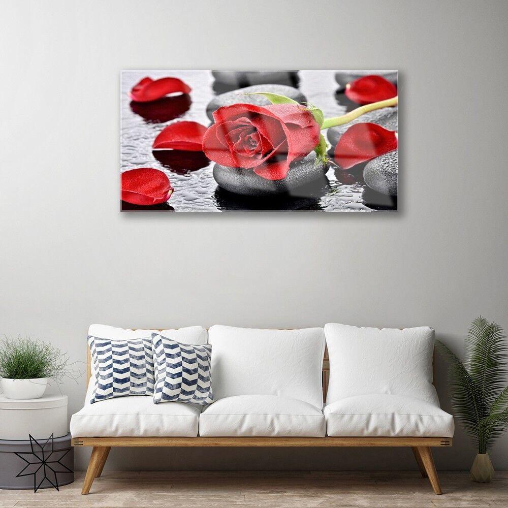Noël est plein de joie Image sur verre acrylique 100x50 Tableau Impression 100x50 acrylique Floral Rose Pierres 2d7ab1
