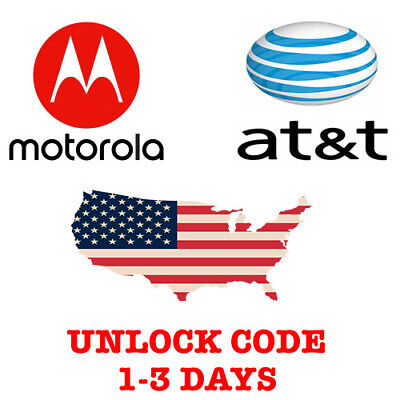 MOTOROLA AT&T USA UNLOCK CODE MOTO Z2 Z3 E4 PLUS E5 E5 PLAY E5 PLUS G4 G5 G6