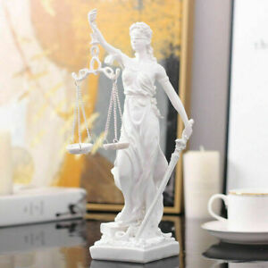 GREEK GODDESS STATUE FIGURINE BLIND LADY JUSTICE SCULPTURE LAWYER GIFT 27x11cm