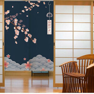 Japanischer-Noren-Tueroeffnung-Vorhang-Getrennt-Tapisserie-Taverne-Restaurant-Kuech
