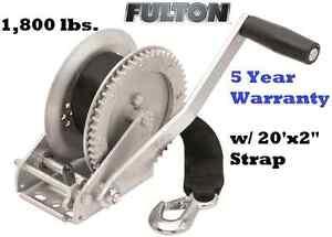 fulton single speed trailer winch 1800lb 20 39 x2 strap. Black Bedroom Furniture Sets. Home Design Ideas