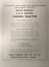 David Bradley Sears 91757583 Garden Tractor Amp Plow Owners Amp Parts 2 Manuals