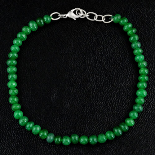 TOP CLASS 53.50 CTS EARTH MINED ELEGANT RICH GREEN EMERALD ROUND BEADS BRACELET