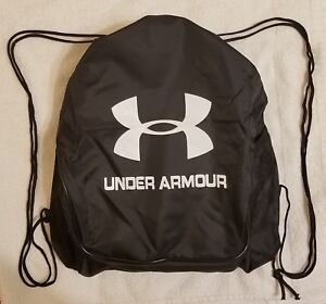 ac9166c04e Image is loading Black-Drawstring-Backpack-Under-Armour-Sport-Gym-School-