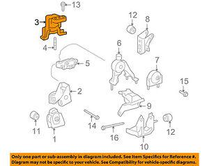 pontiac gm oem 09-10 vibe-engine motor mount/torque strut 88975617 | ebay  ebay