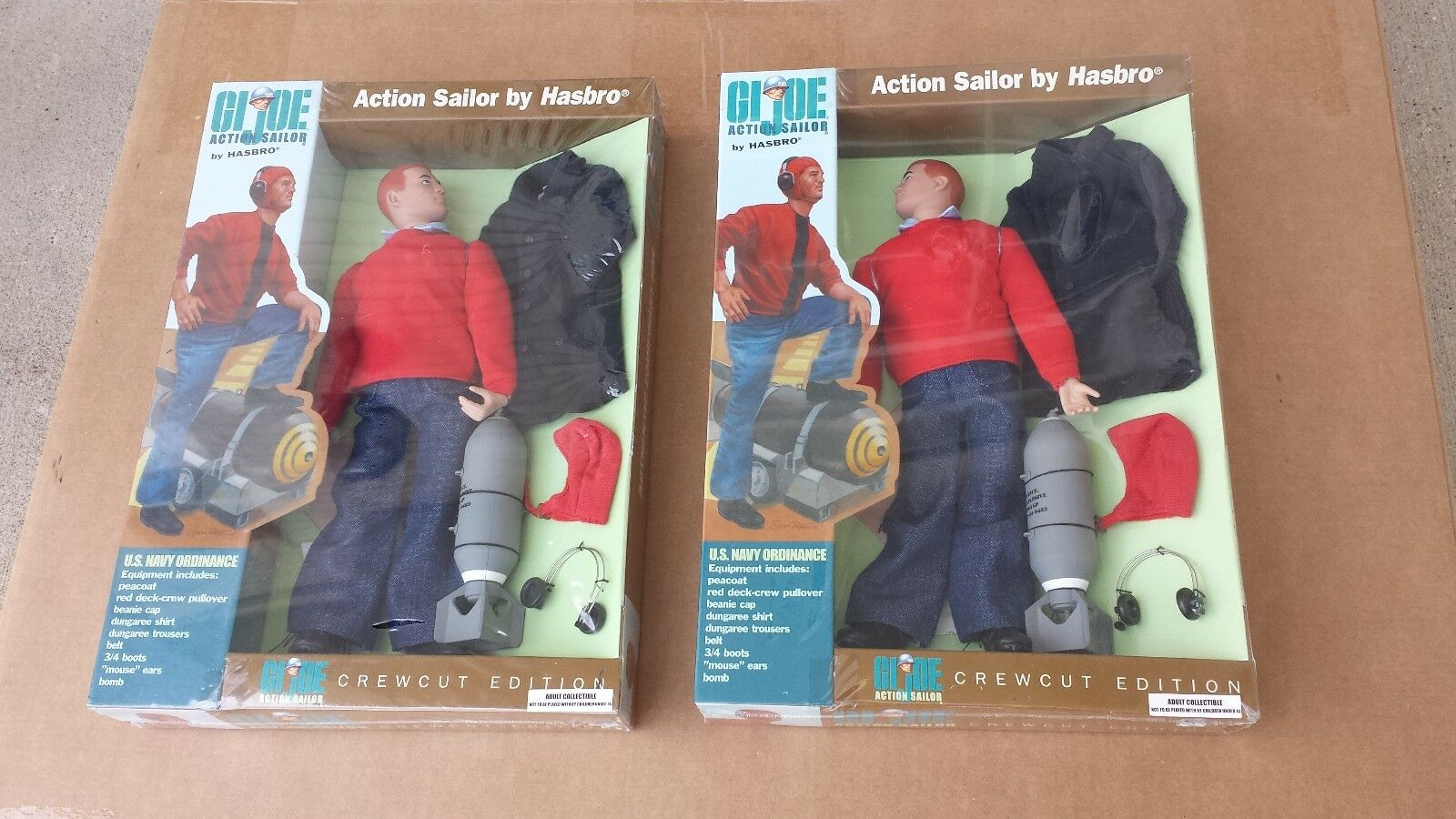 Set of 2 GI Joe Crew Cut Dreams & Visions Action Sailor MISB Free US Shipping