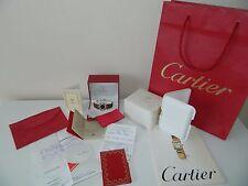 Vintage Must De Cartier Ladies  Watch Gold On Silver Quartz Box Papers Lovely.