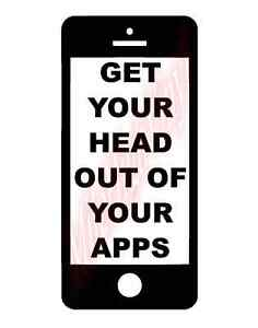 Get your head out of your apps vinyl decal window sticker Getting stickers off glass